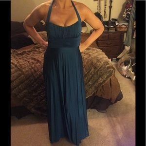 Sky Teal Slinky Maxi Dress Small
